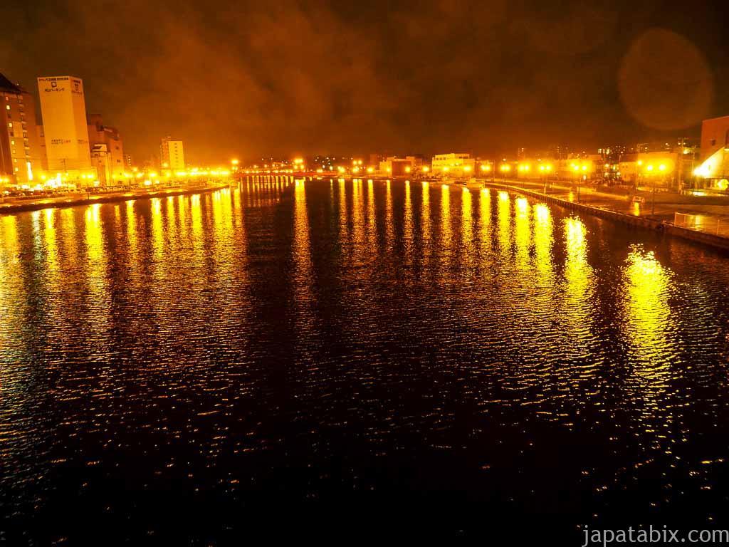 雨の幣舞橋 夜