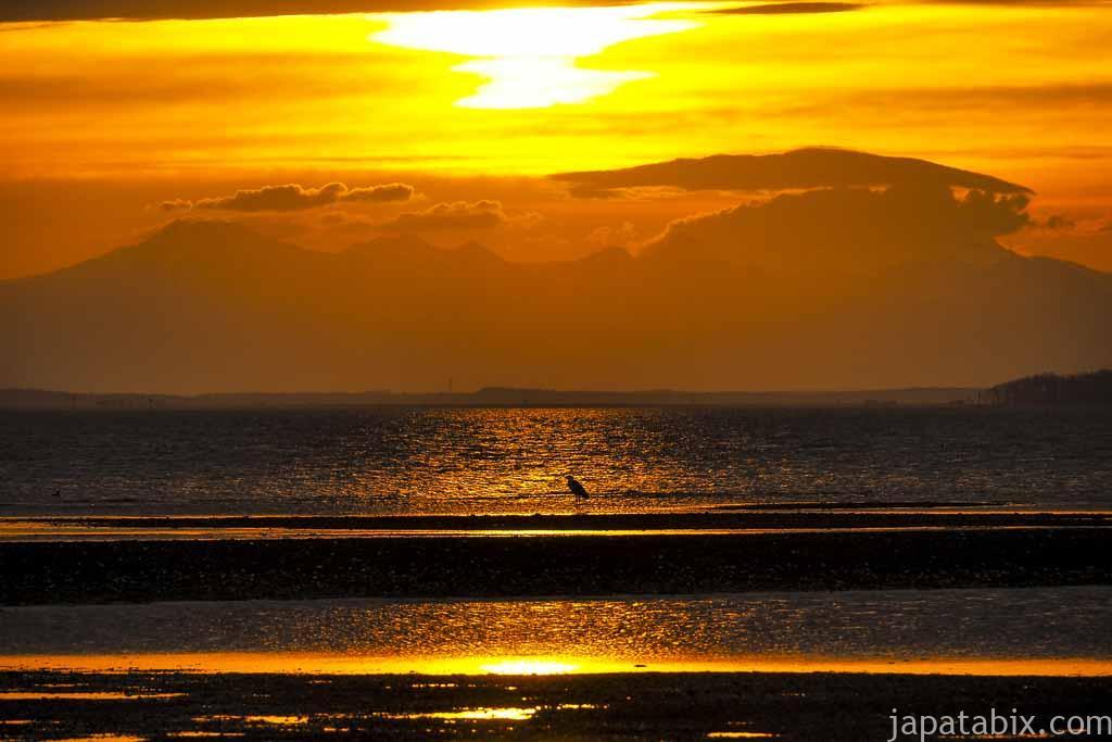 野付半島の夕日