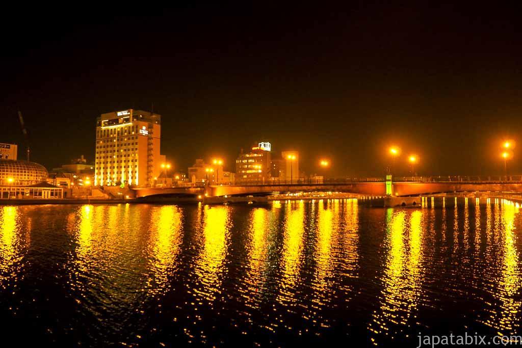 幣舞橋 釧路川の夜景