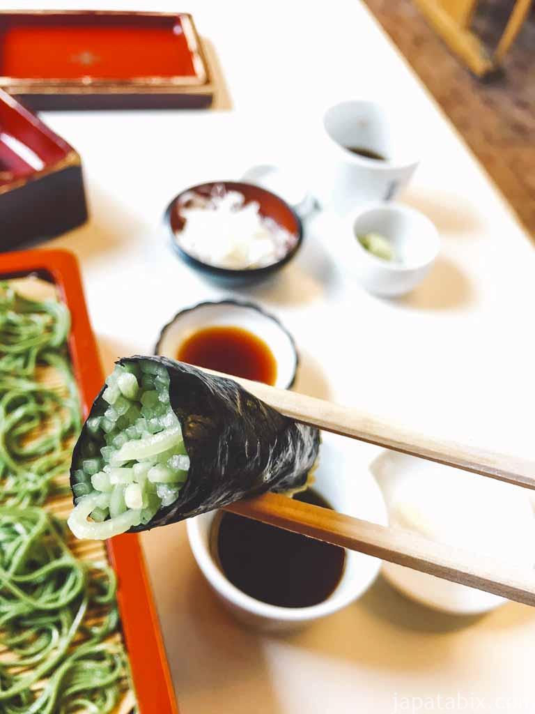 竹老園 特製品コース そば寿司