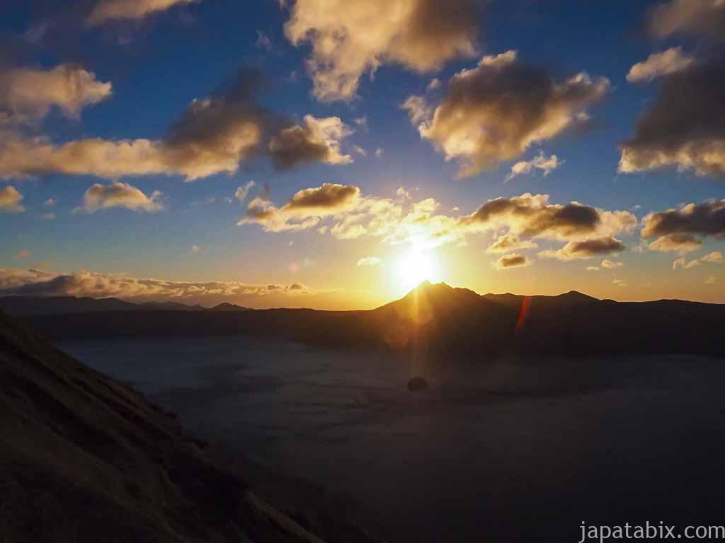 摩周湖 第三展望台から見る日の出