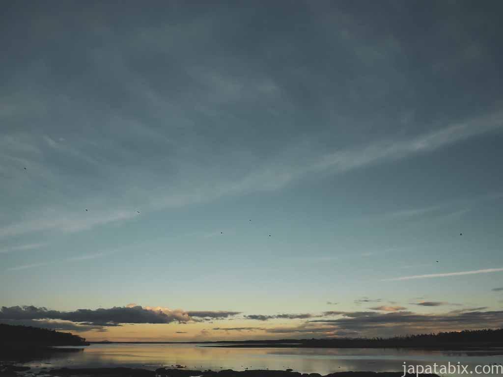 根室市 風連湖の夜明け