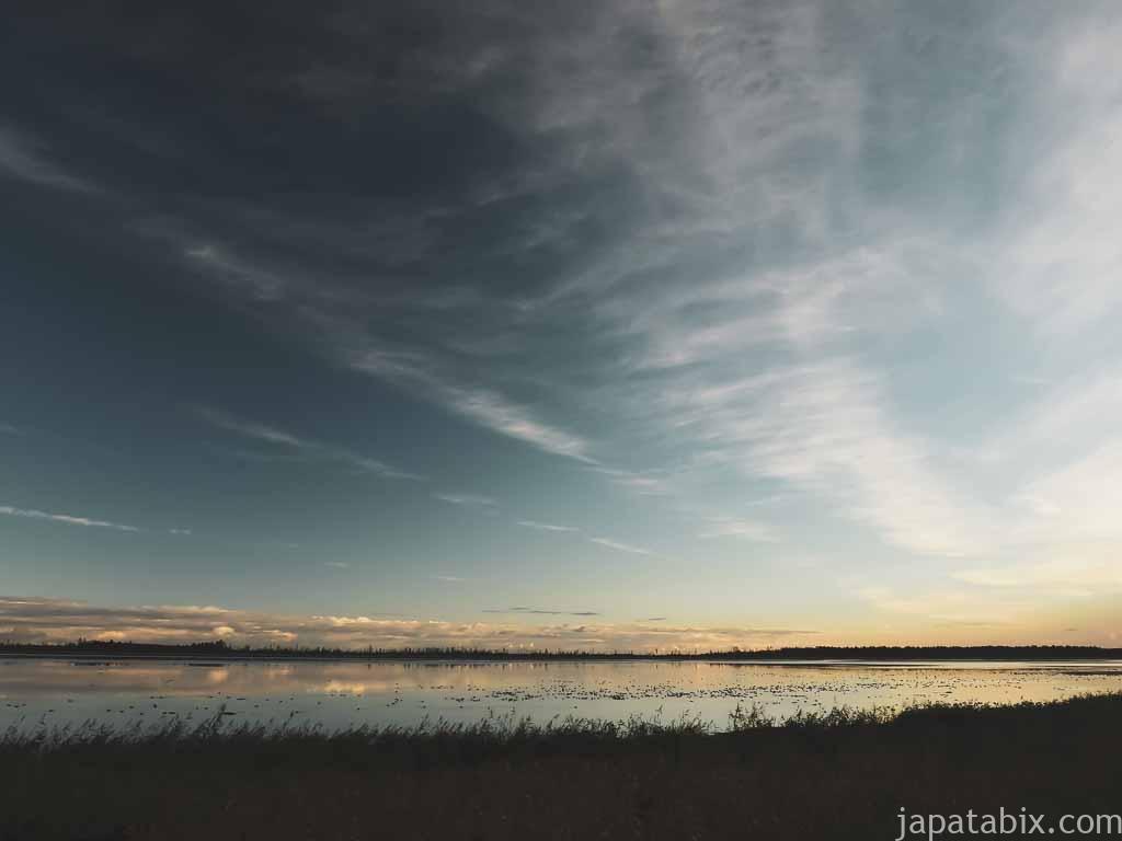 風連湖の夜明け