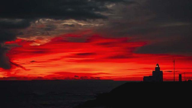 根室市 納沙布岬の朝焼け