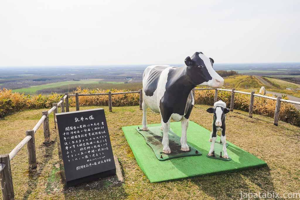 中標津町 開陽台 乳牛の像