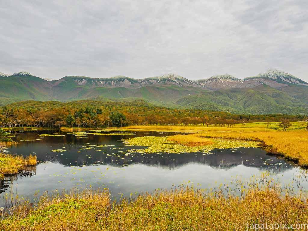 秋の知床五湖の一湖