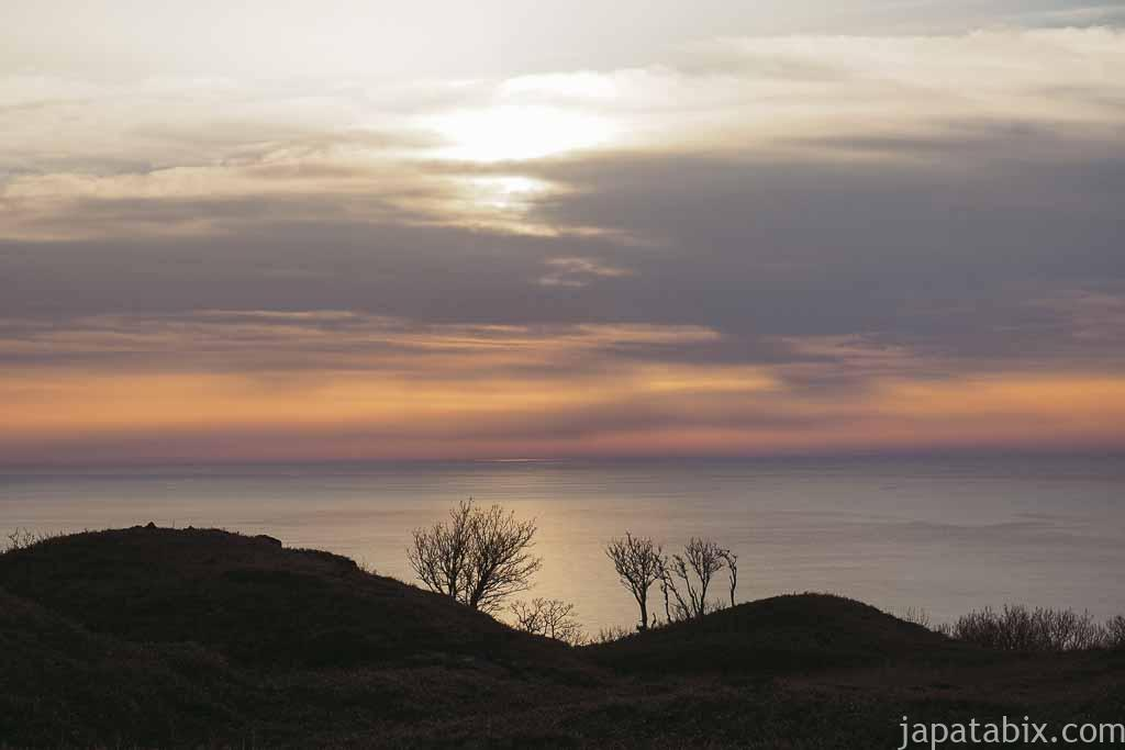 5月 夕暮れ時のオホーツク海