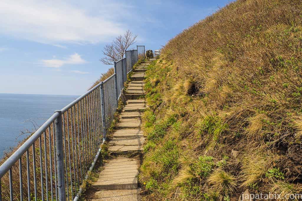 北海道斜里町 知床 オロンコ岩を登る