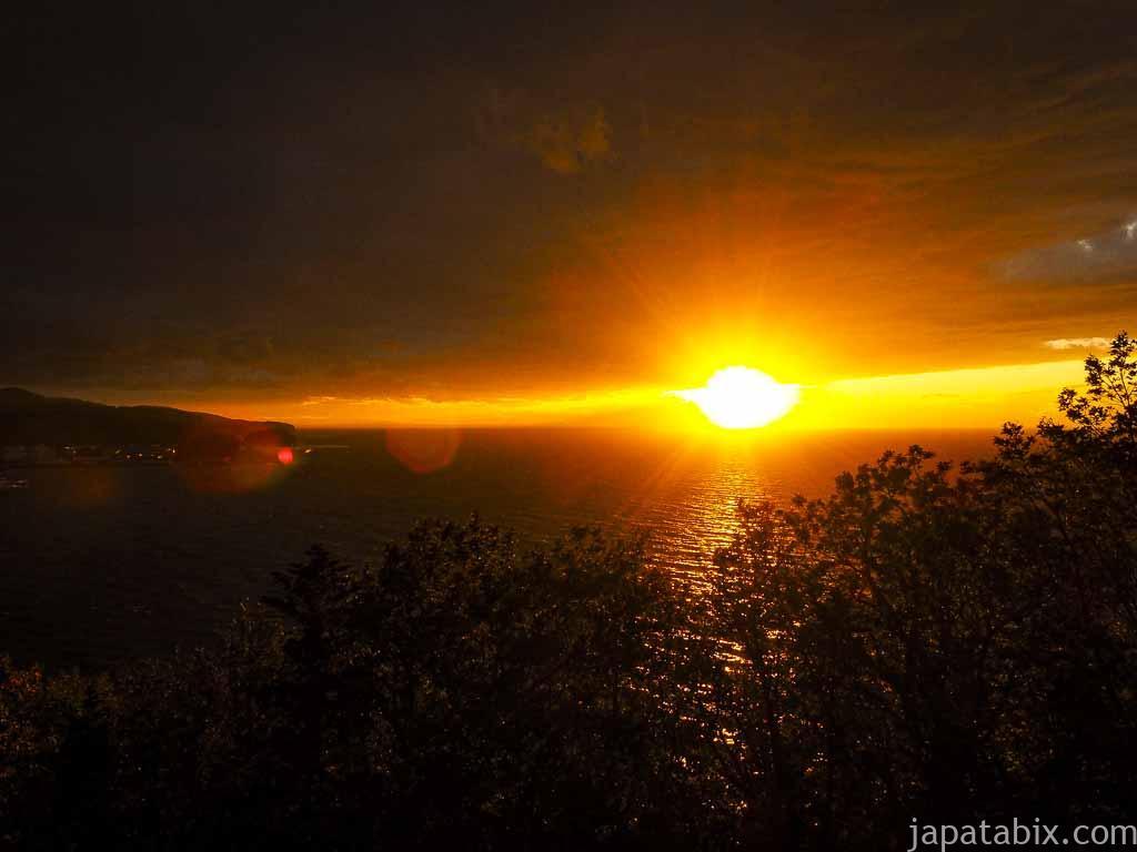 知床 プユニ岬から見る夕陽