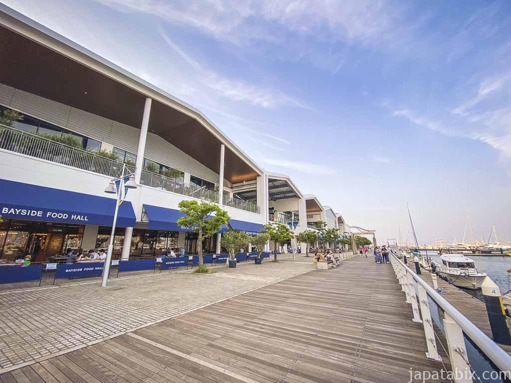 横浜ベイサイド Cブロック前の海沿いを散歩