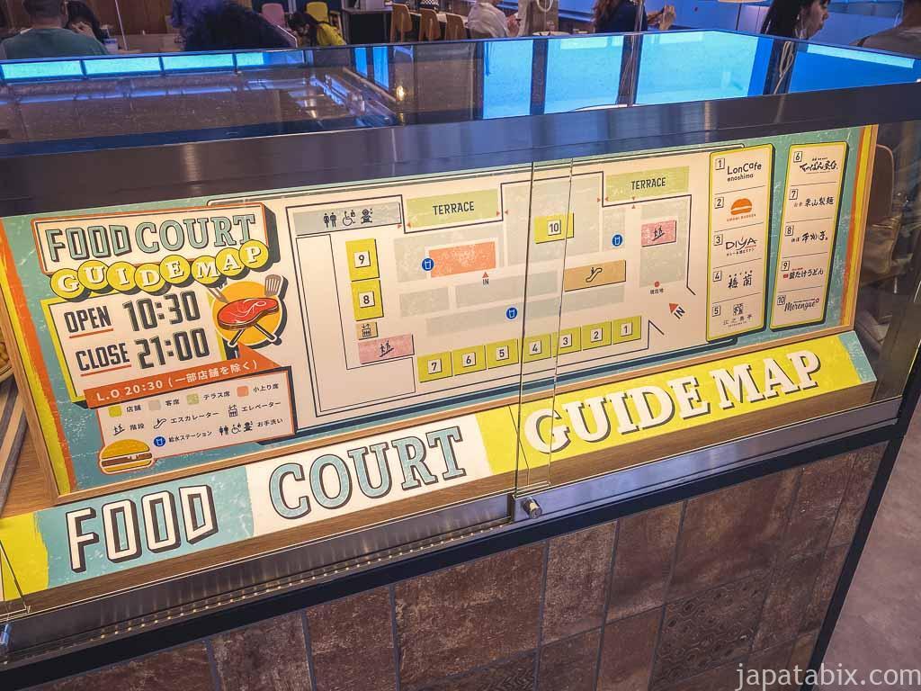 横浜ベイサイド フードコート 店舗
