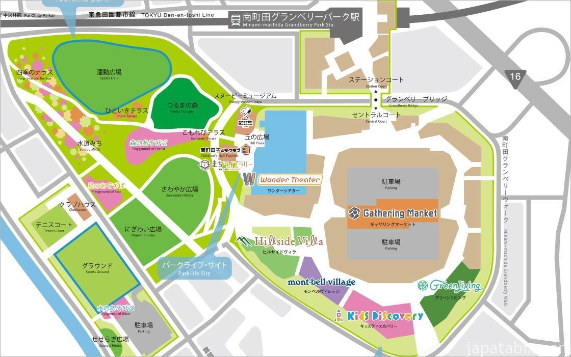 南町田グランベリーパーク マップ