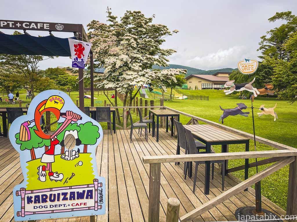 軽井沢プリンスショッピングプラザ ドッグデプト カフェ
