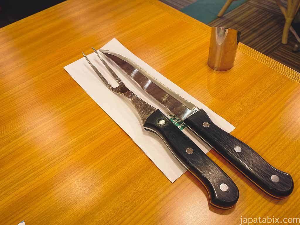 炭焼きレストラン さわやかのテーブル上