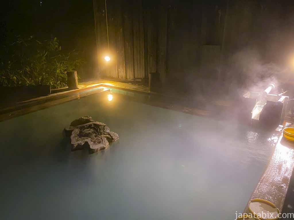 万座温泉 日進館 夜の極楽湯