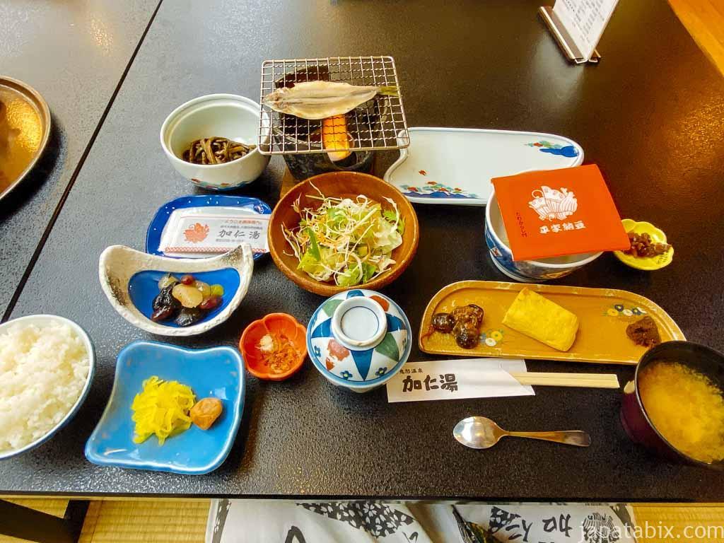 奥鬼怒温泉郷 加仁湯の朝食