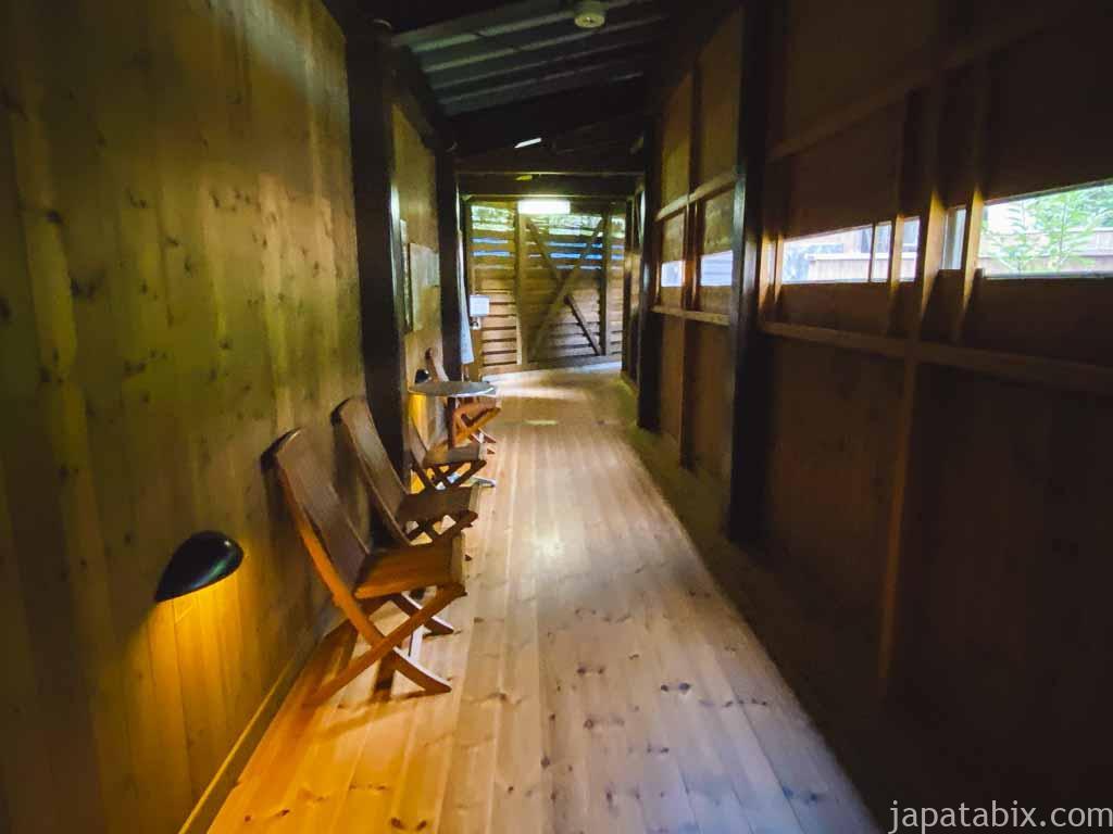 野沢グランドホテル 展望露天風呂へ