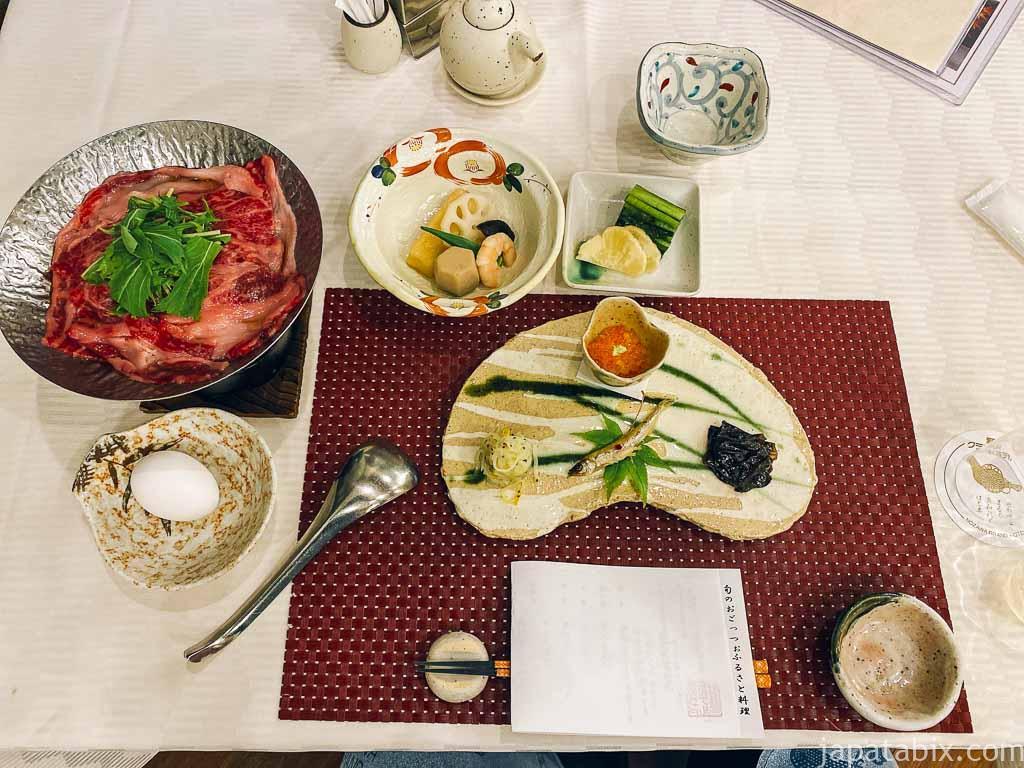 野沢グランドホテル 夕食