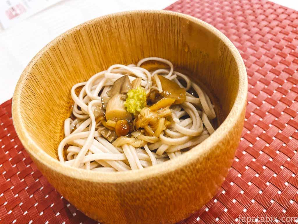 野沢グランドホテル 夕食 きのこ蕎麦