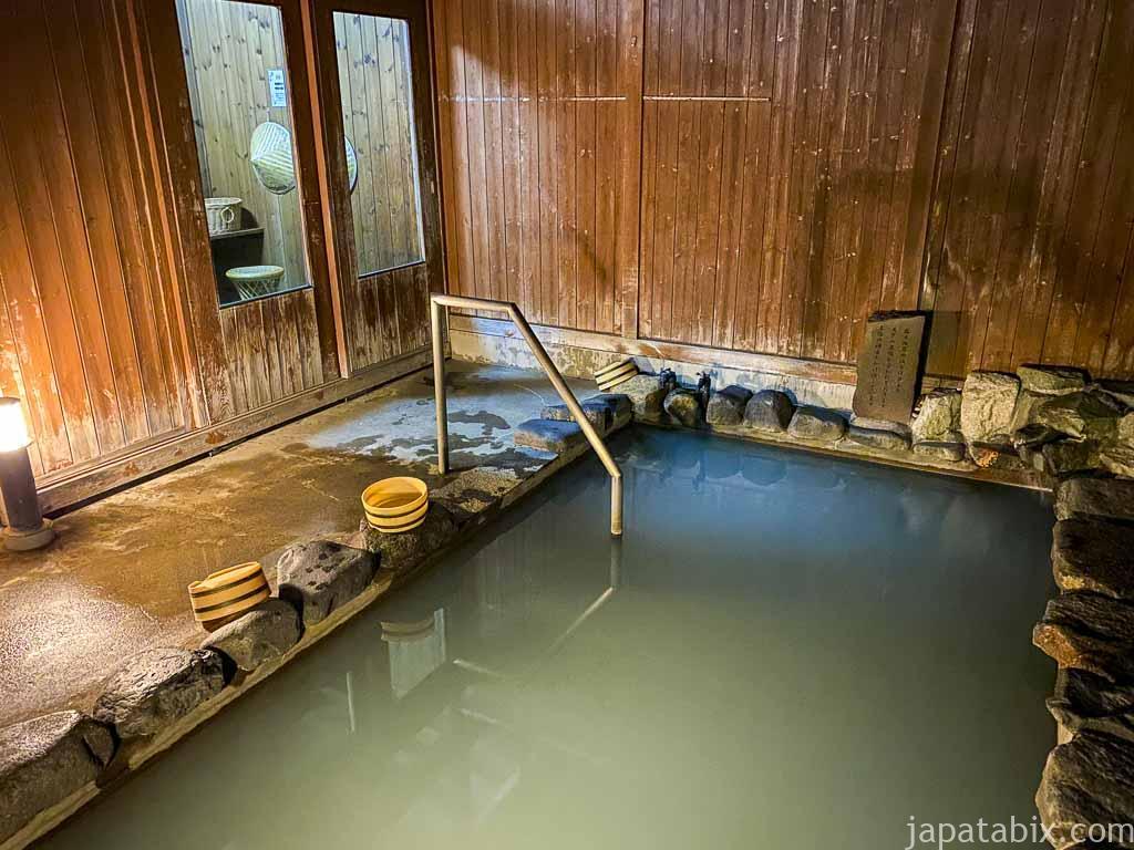 野沢グランドホテル 夜の展望露天風呂