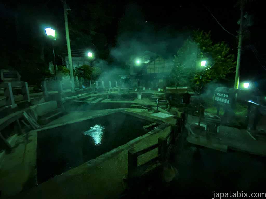 野沢温泉 夜の麻釜