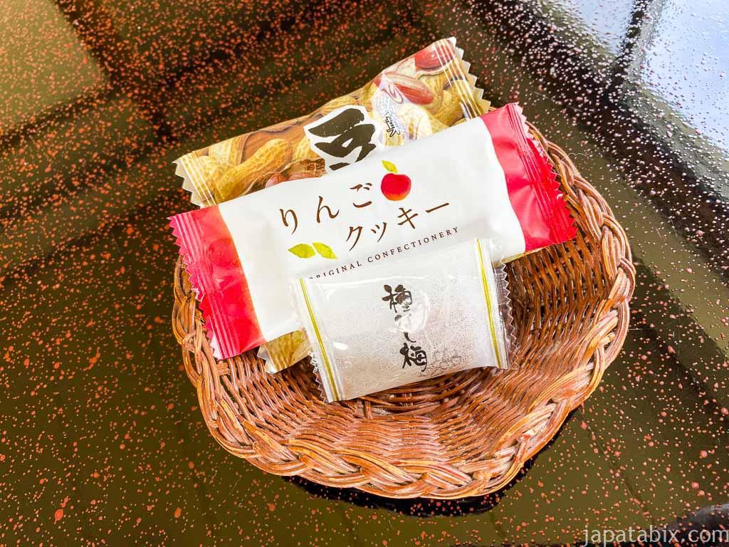 野沢グランドホテル お茶菓子