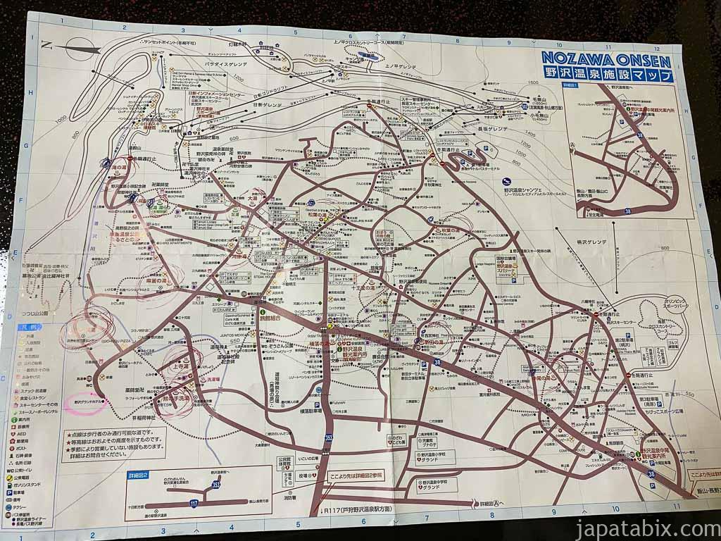 野沢温泉村のマップ