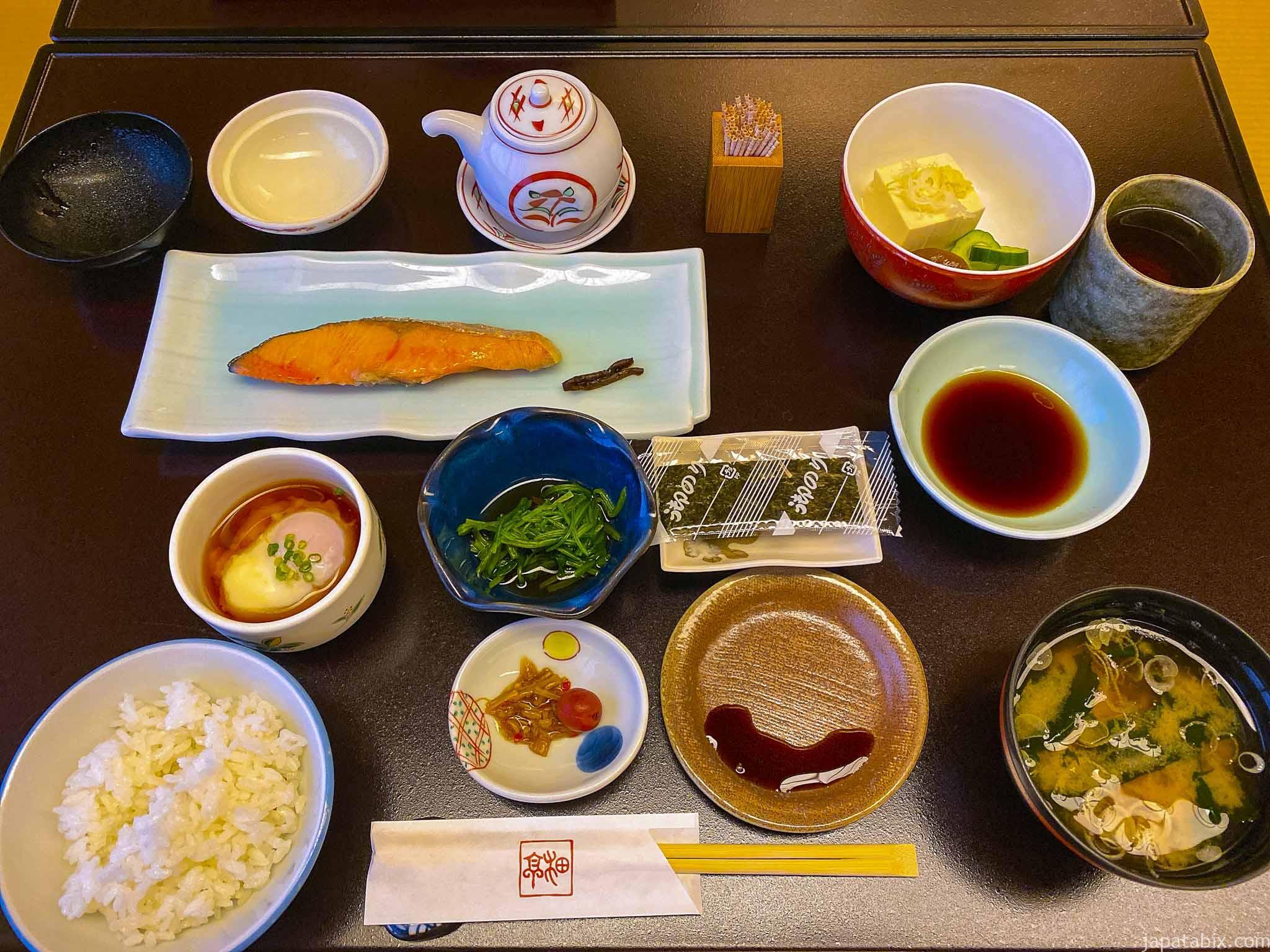 渋温泉 一乃湯果亭の朝食