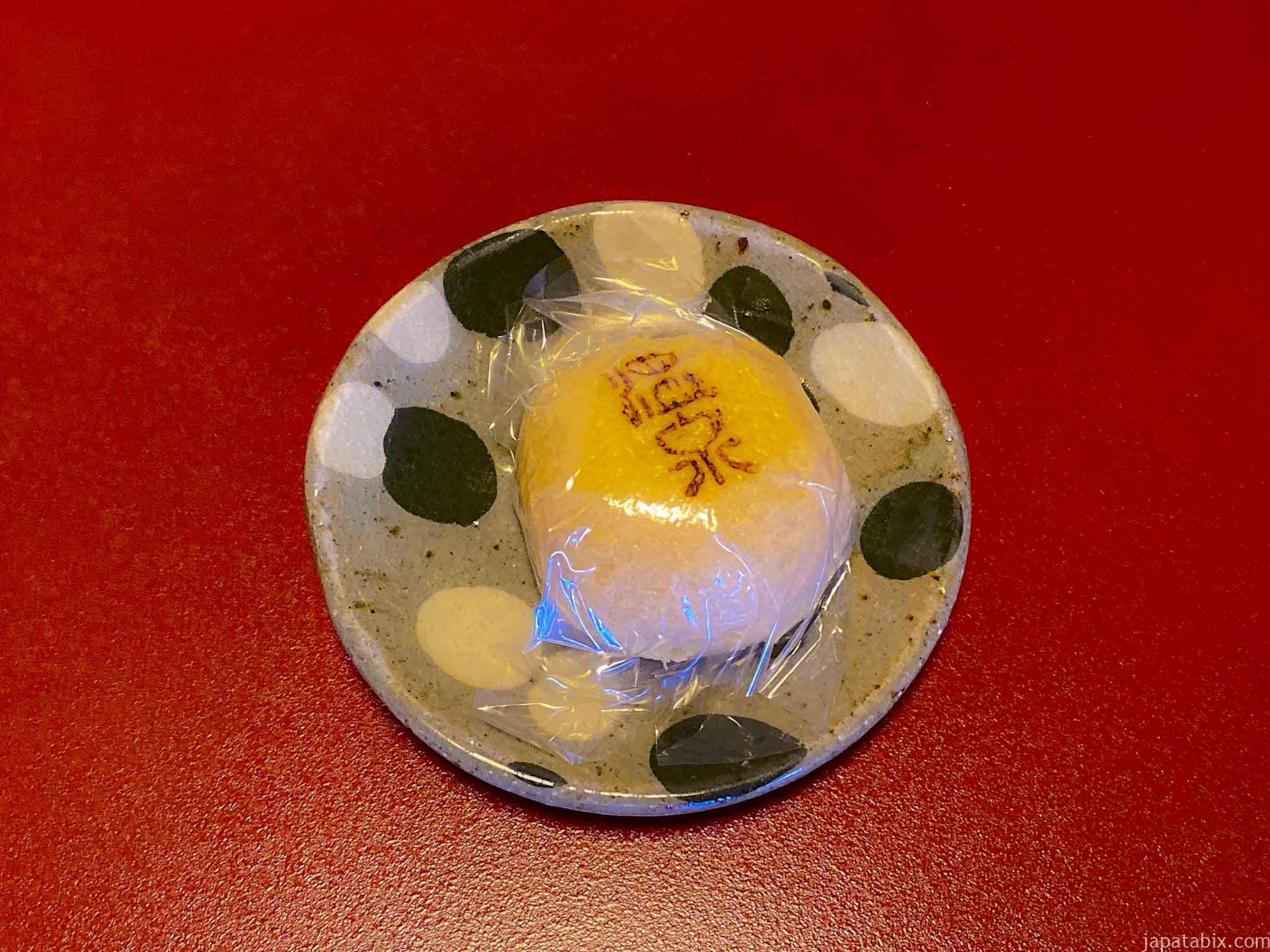 渋温泉 一乃湯果亭 部屋のお茶菓子