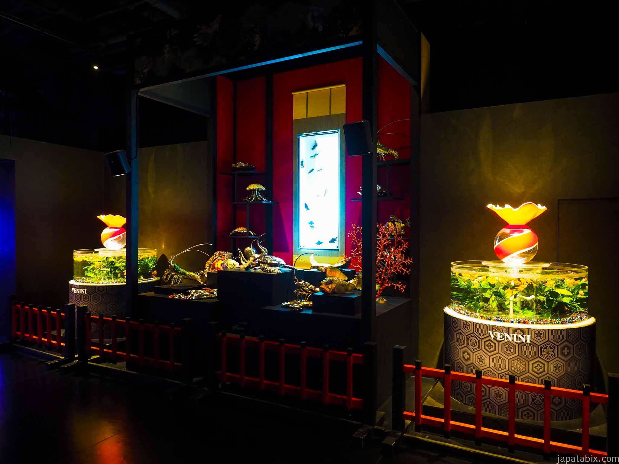 アートアクアリウム美術館 床掛け金魚飾り