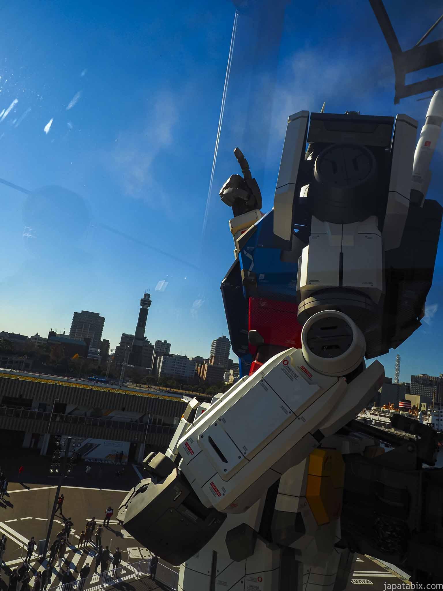RX-78F00 ガンダムをGUNDAM-DOCK TOWERから見る