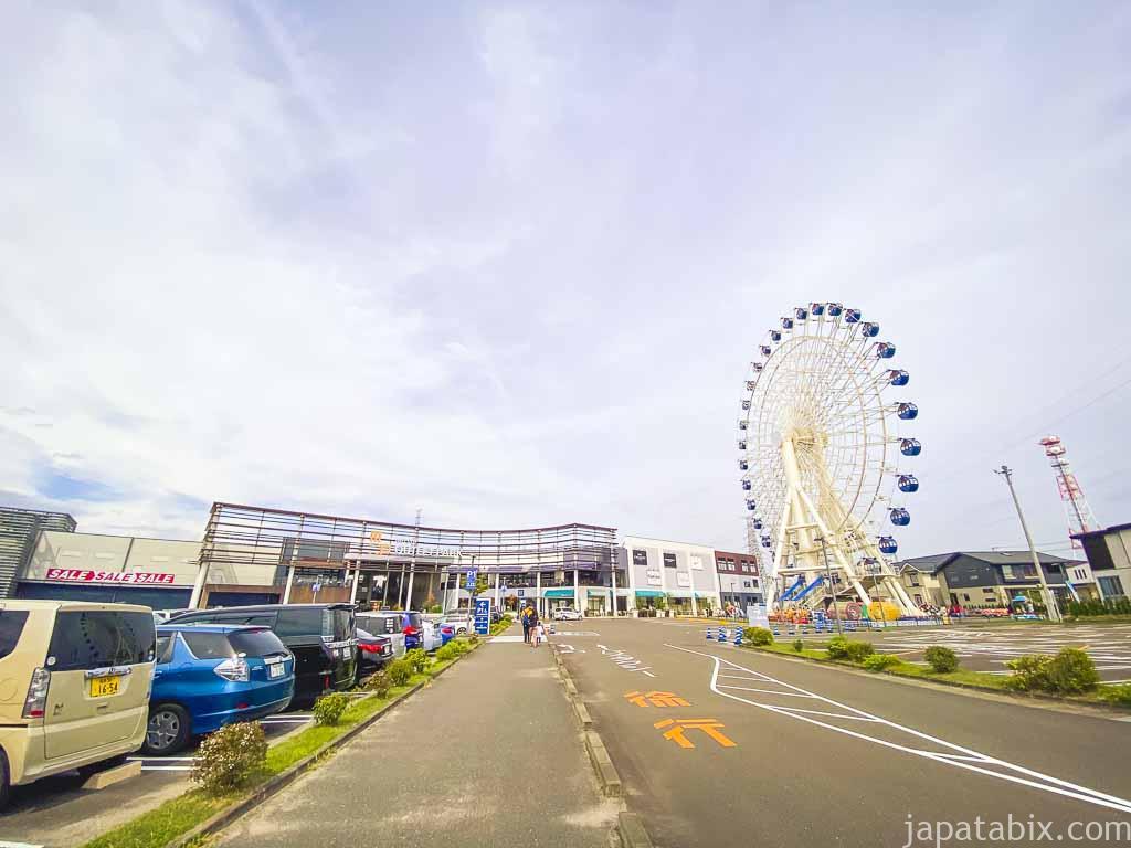 三井アウトレットパーク 仙台港 バス乗り場へ