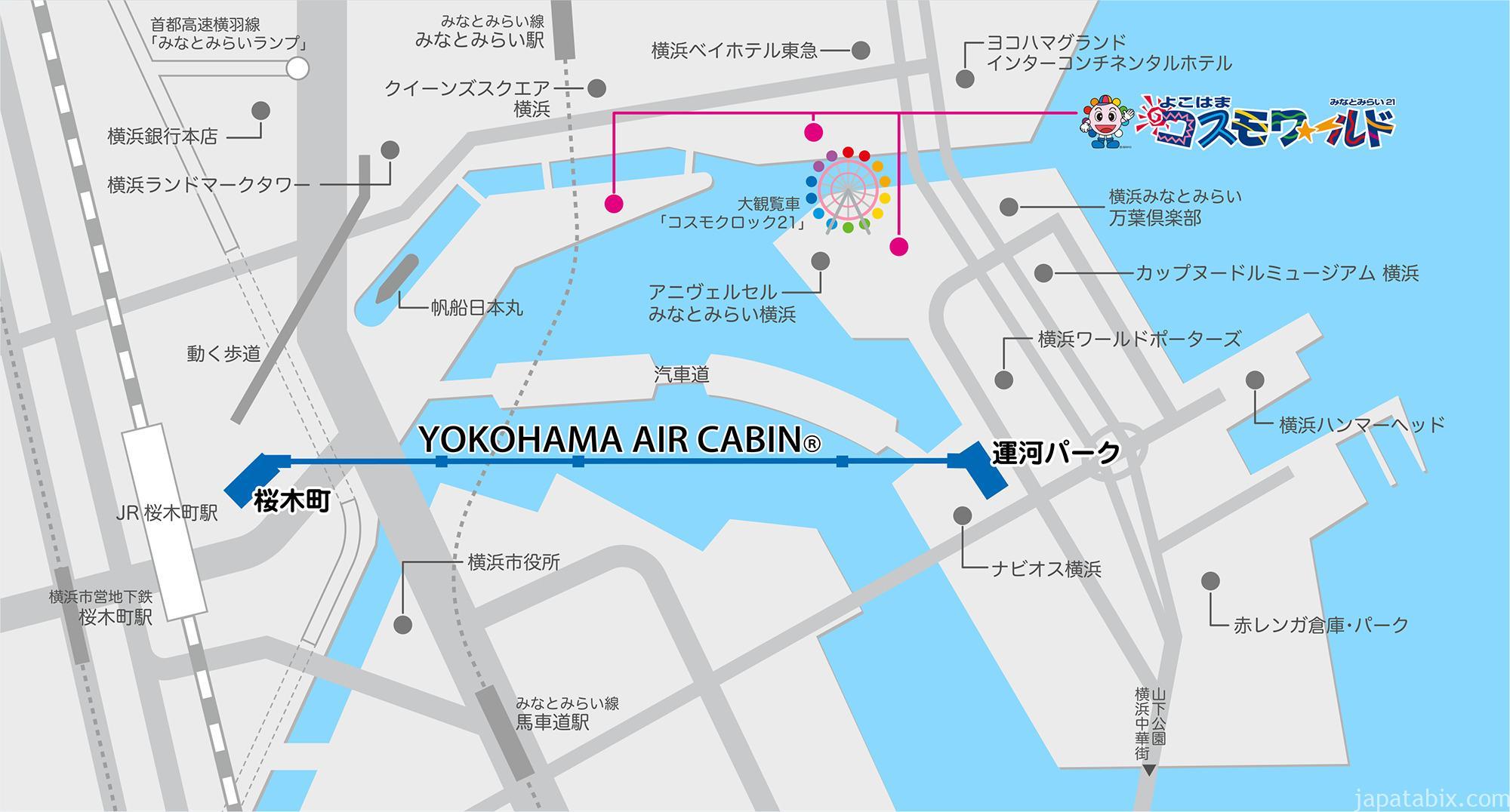 YOKOHAMA AIR CABINアクセスマップ