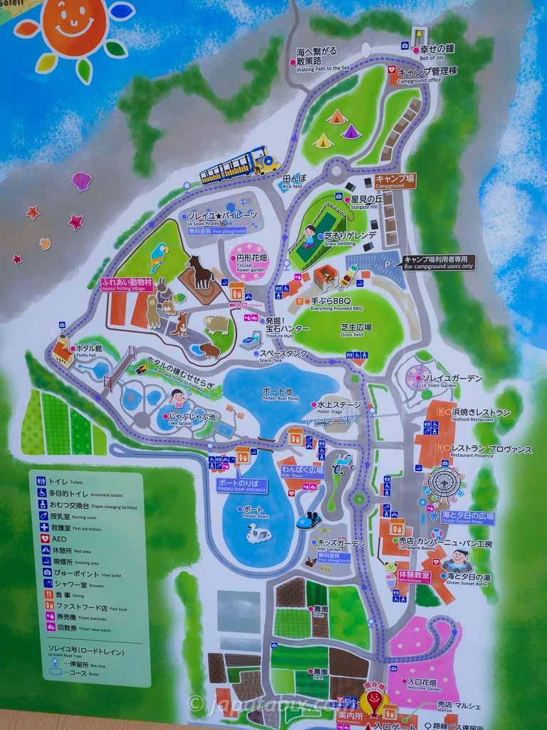 ソレイユの丘 園内マップ