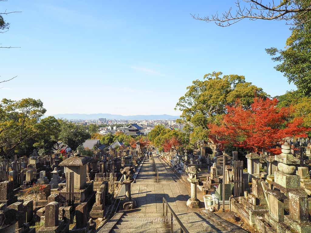 京都 くろ谷 金戒光明寺 三重塔からの眺め