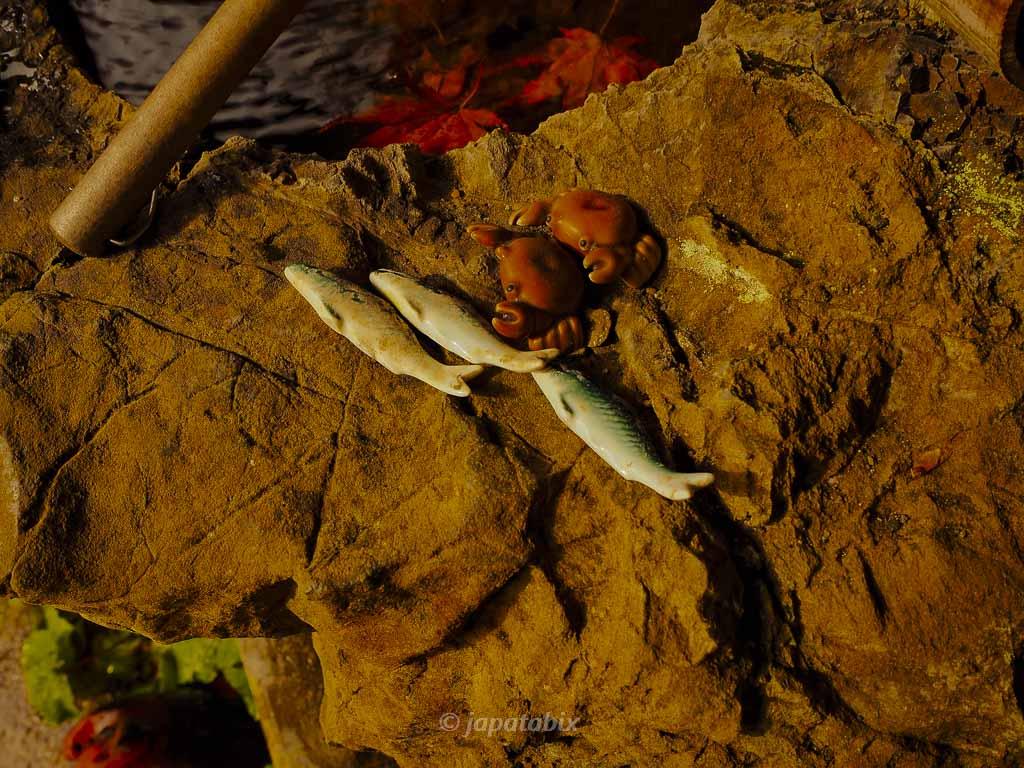 京都 金蔵寺 手水舎の魚