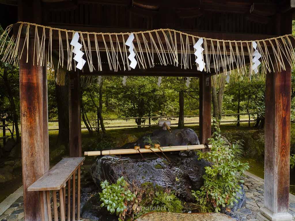 京都 敷地神社(わら天神宮) 手水舎