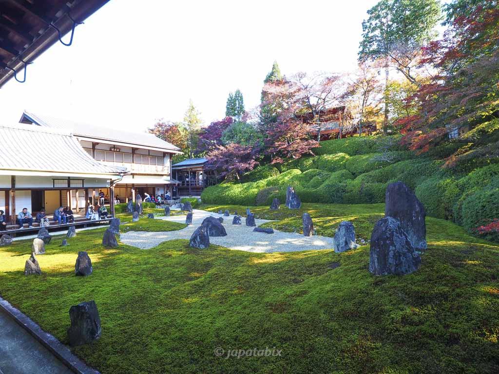 京都 光明院 波心の庭の紅葉