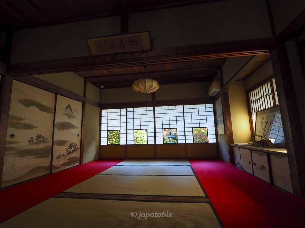 京都 雲龍院 蓮華の間 しき紙の景色
