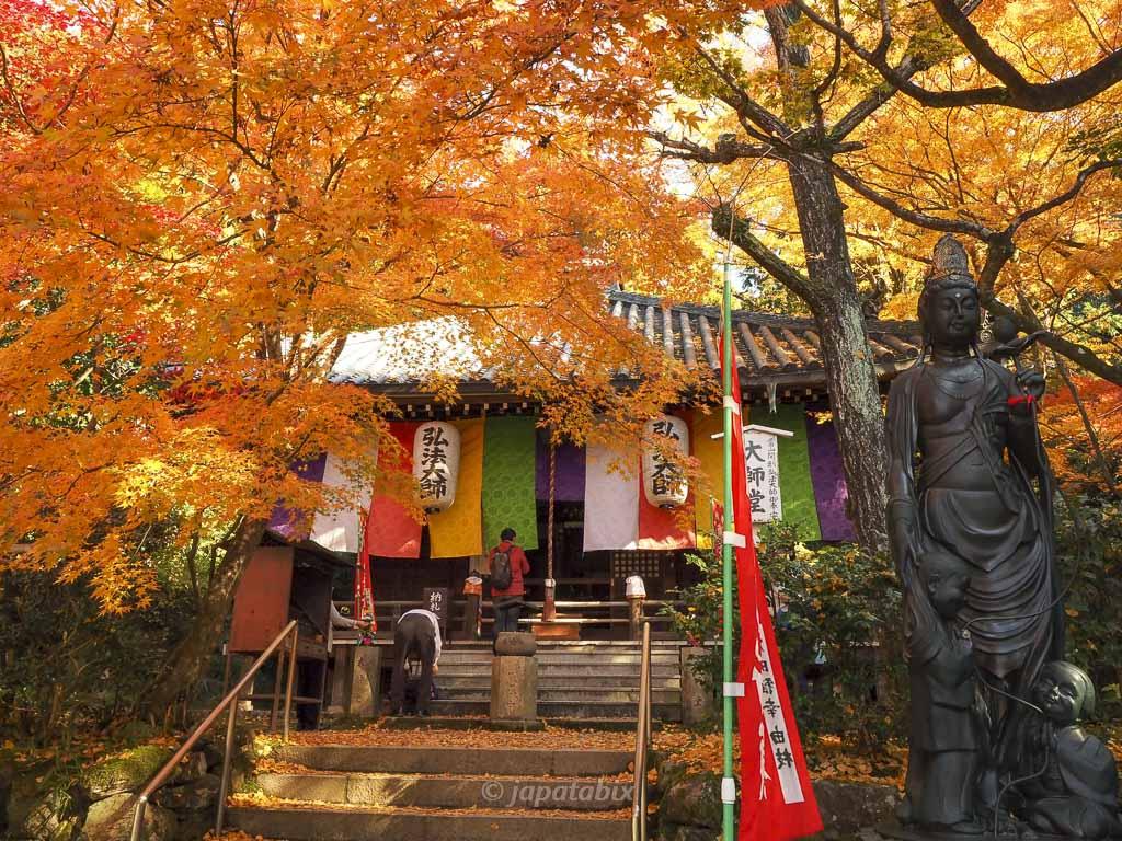 今熊野観音寺 大師堂の紅葉